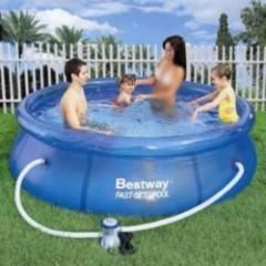 Bestway Swimming Pool 2300 Lt With Filter Pump Circular Fast Set: 57100