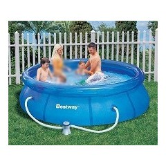 Bestway Swimming Pool 3638 Liter With Filter Pump Circular Fast Set Pool: 57109