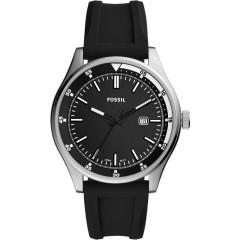 FOSSIL Analog Silicon Black Dial Men's Watch FS5535
