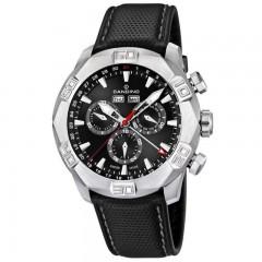 Candino Men's Chronograph Quartz Watch Leather Black Band Black Dial C4476/3