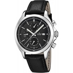 Candino Mens Chronograph Quartz Watch Leather Black Band Black Dial C4516/3
