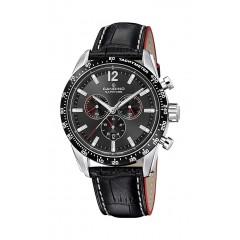 Candino Mens Chronograph Quartz Watch Leather Black Band Black Dial C4681/2