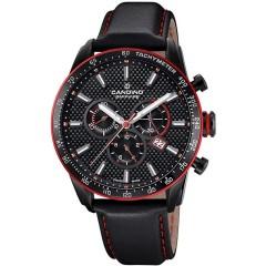 Candino Mens Chronograph Quartz Watch Leather Black Band C4683/3