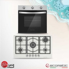 Ecomatic Built-In Gas Hob 90 cm and Gas Oven 60cm With Grill & Fan G6104T