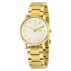 DKNY SOHO Women's Stainless Steel Watch Color Gold NY2343