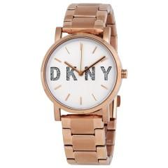 ساعة ديكني للنساء استانلس ستيل روز دهبى NY2654