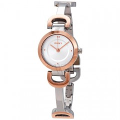 DKNY City Line Women's Watch Stainless Steel Silver*Rose Gold NY2749