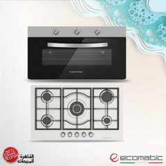 Ecomatic Built-In Hob 90 cm and Gas Oven 90cm With Grill and 2 Fans S973C