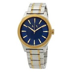 ARMANI EXCHANGE AIX Men's Watch Silver Band With Blue Dial AX2332