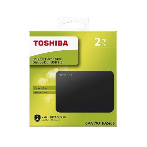Toshiba Canvio Basics 2TB Portable External Hard Drive USB 3.0 for PC, Xbox, PS4 HDTB420EK3AA