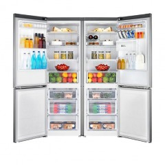 SAMSUNG Twins Refrigerator with Bottom Freezer 6 drawers Inverter Digital Dispenser Silver RB33J3830SS/RB33J3220SS
