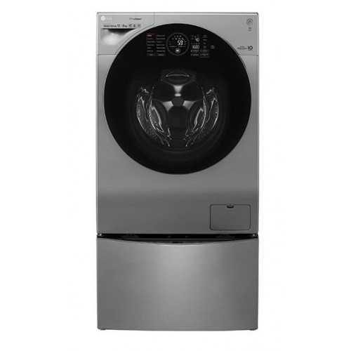 LG Twin Wash 12Kg With Dryer 8Kg Steam 1400 rpm Stainless + 2 Lower TwinWash: FH6G1BCHK6M