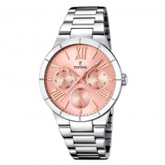 FESTINA Women's Classic&Simple Watch Stainless Steel Rose Dial F16716/3