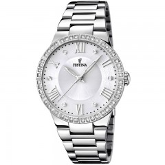 FESTINA Women's Watch Stainless Steel Silver Dial With Crystals F16719/1