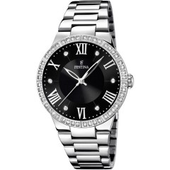 FESTINA Women's Watch Stainless Steel Black Dial With Crystals F16719/2