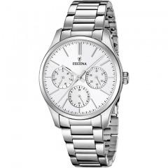 FESTINA Women's Cronoghraph Watch Stainless Steel Silver Dial F16813/1