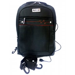 Beam Bag Laptop Naylon Earphone Hole Black Color BM-636