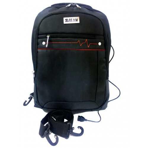 Beam Bag Laptop Naylon Earphone Hole Black Color BM-636
