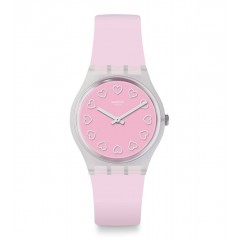SWATCH Women's Watch Silicone Pink Band GE273
