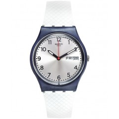 SWATCH Men's Watch Silicone White-Black Color GN720