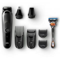 Braun Trimmer 8-in-1 Attachments and Gillette Fusion5 ProGlide razor MGK5060
