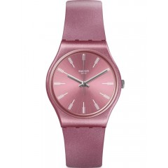 SWATCH Women's Watch Silicone Pink Band Water Desistant GP154
