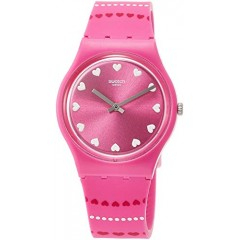SWATCH Women's Watch Analoge Silicone Pink GP160