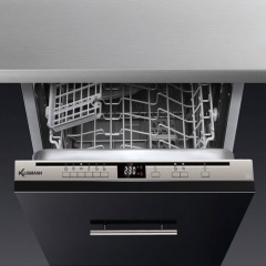 KLUGMANN Integrated Dishwasher 45 cm 9 Persons 6 Programs KD450