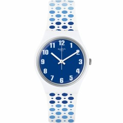 SWATCH Paveblue Women's Silicone Watch Analoge Blue Dial GW201