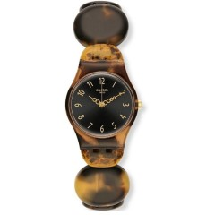 SWATCH Testudo Women's Watch Analoge With Plastic Brown Band LC105A