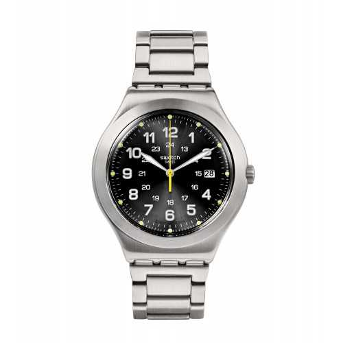 SWATCH Men's Watch Stainless Steel Band Black Dial YWS439G
