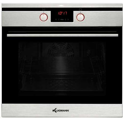 KLUGMANN Built-In Electric Oven 60 cm With Fan 10 function Inox KO610TCX Master