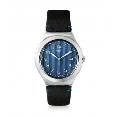 SWATCH Men's Watch Blue Leather Blue Dial YWS438