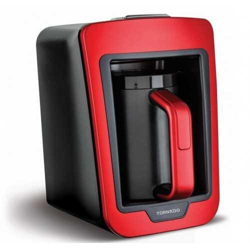 TORNADO Automatic Turkish Coffee Maker 735W 330 ML Red x Black TCME-100 RG