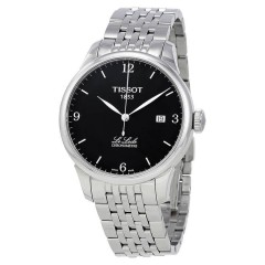 TISSOT Men's Black Dial Stainless Steel Band Watch T006.408.11.057