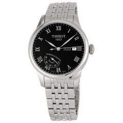 تيسوت ساعة رجالي معدن سيلفر مينا اسود T006.424.11.053