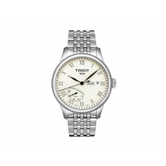 TISSOT Men's White Dial Silver Band Watch T006.424.11.263