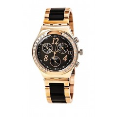 SWATCH Dreamnight Gold-Black Stainless Steel Chronoghraph Quartz Watch YCG404G