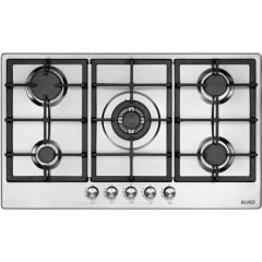 Klass Built-In Gas Hob 90cm 5 Burners Cast Iron Stainless OD950VE40S