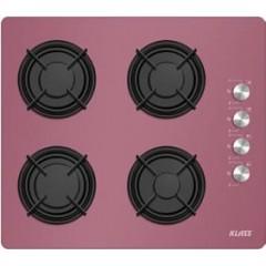 Klass Built-In Gas Hob 60cm 4 Burners Cast Iron purple YA640RE40P