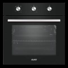 Klass Built-In Gas Oven 60cm with Fan Glass Black A62FSRM