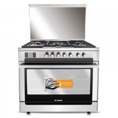 Fresh Gas Cooker 5 Burners with Fan Cast Iron Stainless MATRIX90 -8465