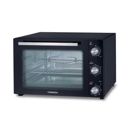 TORNADO Electric Oven 55 L 2000 Watt With Grill and Fan Black TEO-55DG(K)