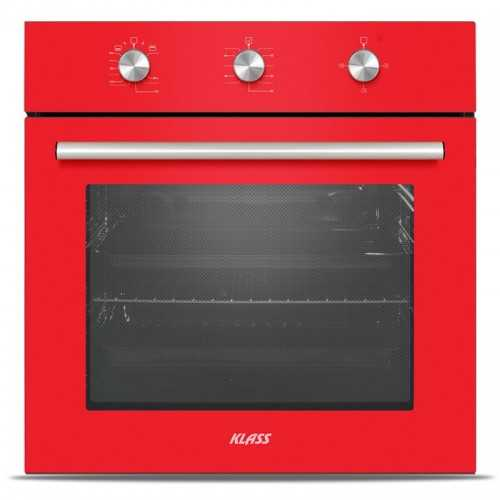 Klass Built-In Gas Oven 60cm with Fan and Grill Red A62FVRM