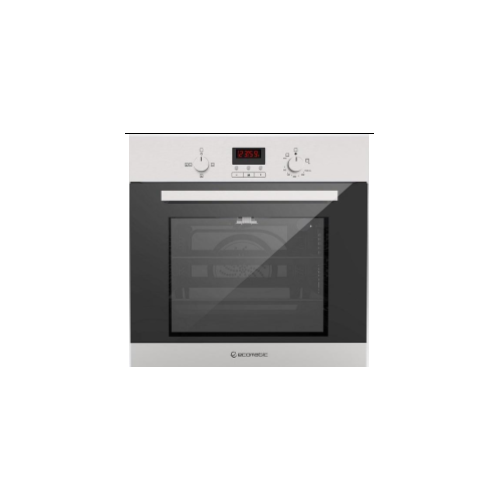 Ecomatic Built-in Gas Oven With Gas Grill 60 cm With Fan Digital Stainless Steel With Black Glass G6404TD
