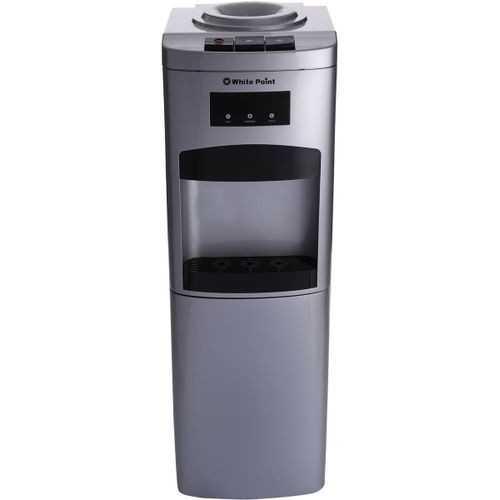 White Point Water Dispenser 3 Tabs with Mini Fridge Silver WPWD1316FS