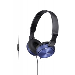 SONY Headband Wired Stereo Headset Blue Color MDR-ZX310AP-BL