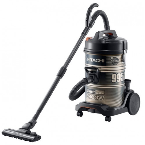 HITACHI Pail Can Vacuum Cleaner 2300 watt with 2 Filters in Black x Gold color: CV-995DC