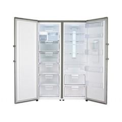 LG Fridge & Freezer No Frost Twins Stainless: GR-F401ELNL - GR-B404ELNZ - Cairo Sales Stores