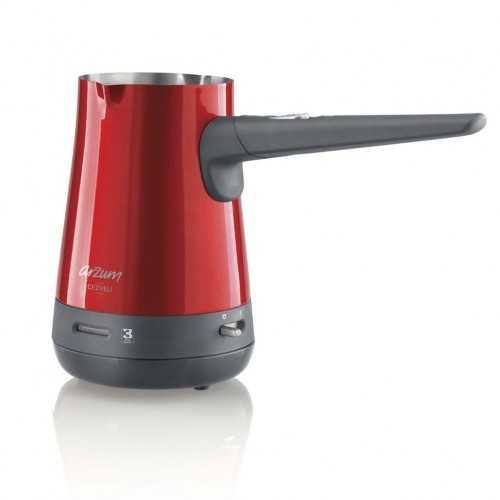 أرزوم كنكة القهوة التركي الكهربائية 800 واط لون احمر AR3017